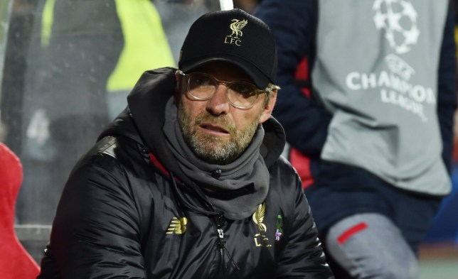 BELGRADE, SERBIA - NOVEMBER 06: (THE SUN OUT, THE SUN ON SUDNAY OUT) Jurgen Klopp Manager of Liverpool during the Group C match of the UEFA Champions League between Crvena Zvezda and Liverpool at Rajko Mitic Stadium on November 6, 2018 in Belgrade, Serbia. (Photo by Andrew Powell/Liverpool FC via Getty Images)