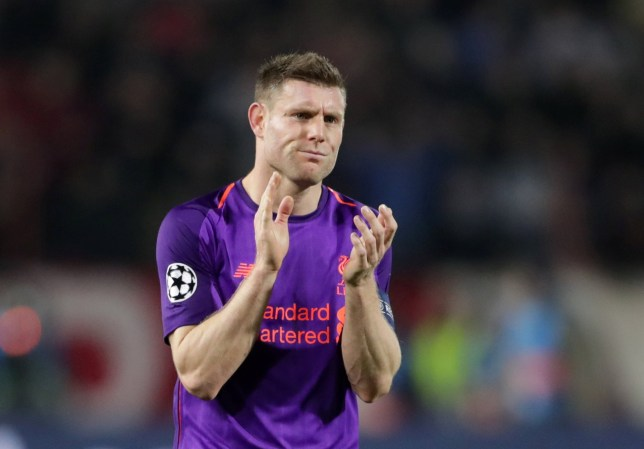 Soccer Football - Champions League - Group Stage - Group C - Crvena Zvezda v Liverpool - Rajko Mitic Stadium, Belgrade, Serbia - November 6, 2018 Liverpool's James Milner applauds the fans after the match REUTERS/Marko Djurica