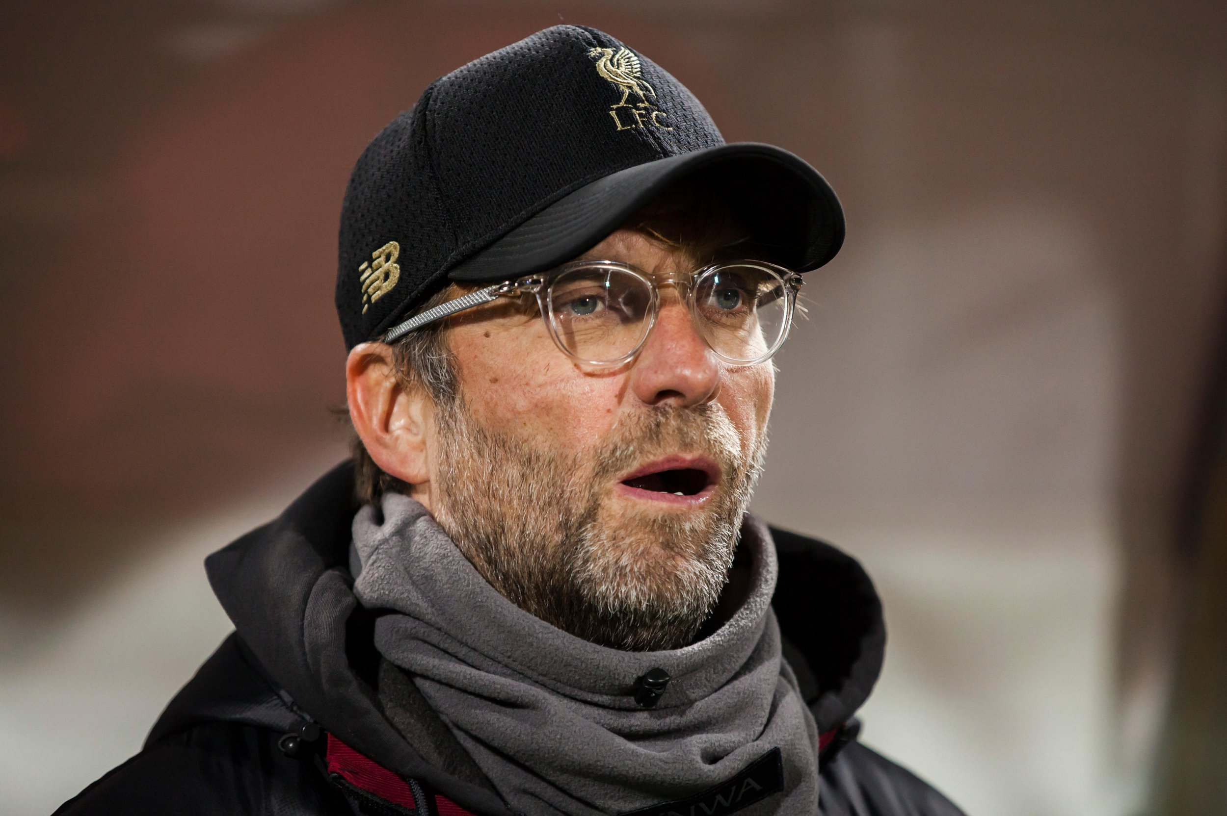 Alamy Live News. R0PF9Y FK Cukaricki Stadium, Belgrade, Serbia. 06th Nov, 2018. UEFA Champions League football,Red Star Belgrade versus Liverpool; Head Coach Jurgen Klopp of Liverpool looks frustrated as his team fall behind by 2-0 Credit: Action Plus Sports/Alamy Live News This is an Alamy Live News image and may not be part of your current Alamy deal . If you are unsure, please contact our sales team to check.