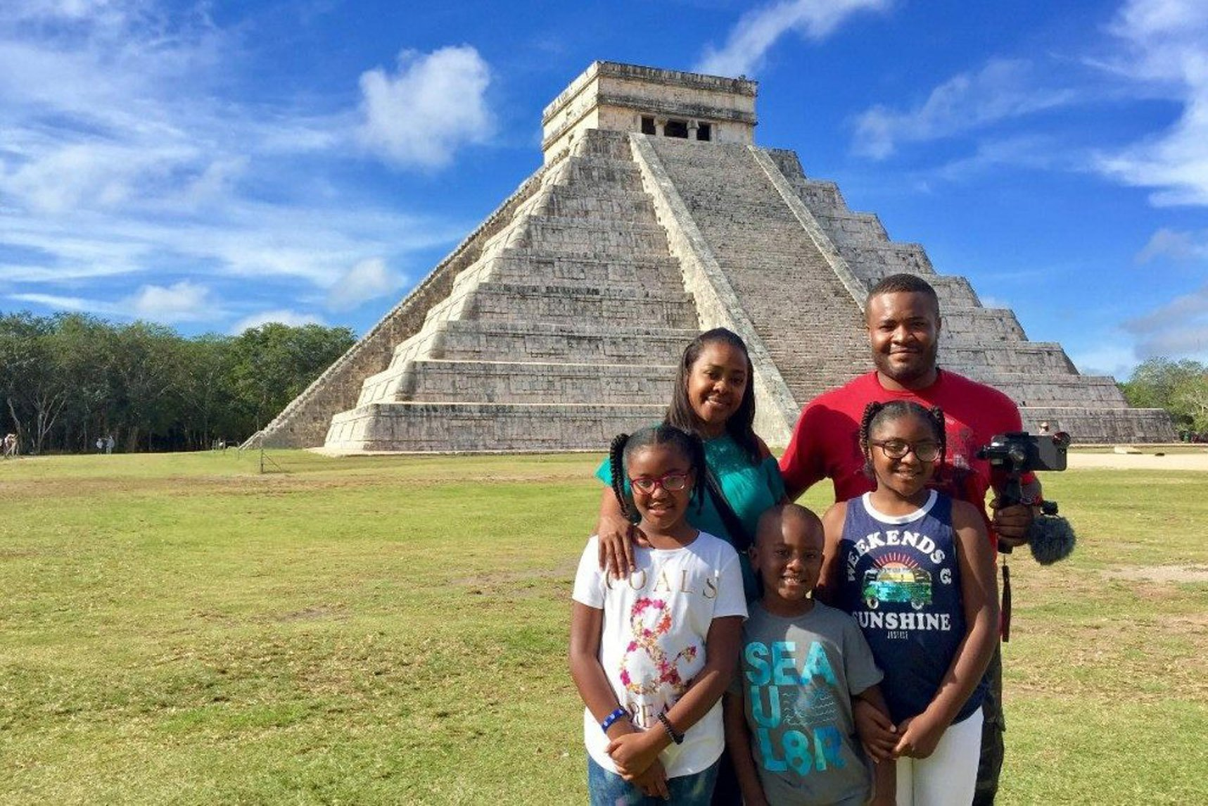 The Anderson family in Mexico (PA Real Life/Collect)