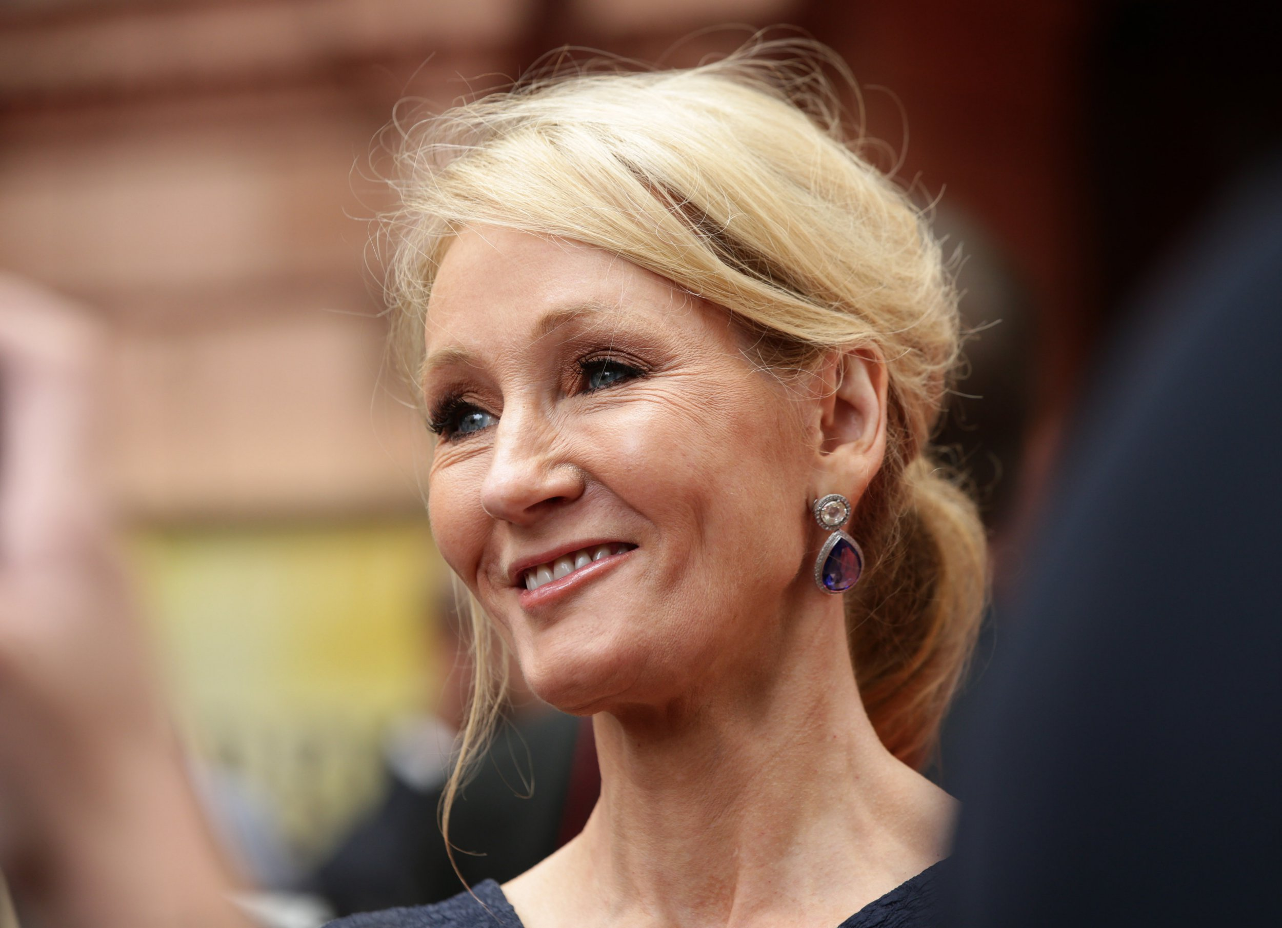 """EMBARGOED TO 1300 SATURDAY OCTOBER 6 File photo dated 30/07/16 of JK Rowling who has said she enjoys living a """"very unnoticed life"""" and can often get about without being recognised."""