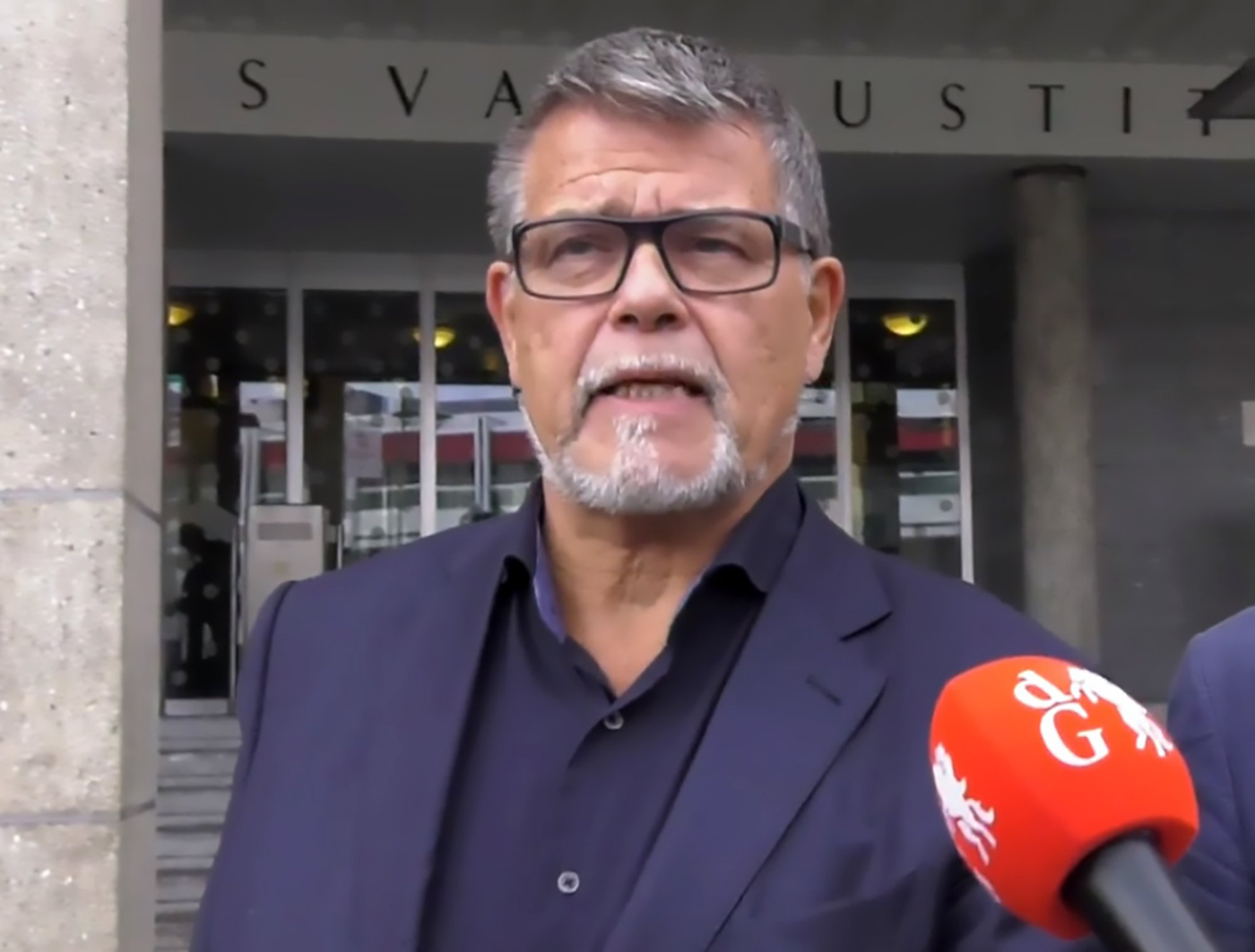 """Pic Shows: Emile Ratelband in front of the courthouse; A pensioner has begun a legal battle to be recognised as being 20 years younger than his actual age so he can go back to work and pull girls on Tinder. Emile Ratelband, 69, argues that if transgender people are allowed to change sex, he should be allowed to change his date of birth because doctors said he has the body of a 45-year-old. The entrepreneur and self-help guru is suing his local authority after they refused the amend his age on official documents. Mr Ratelband's case has now gone to a court in the city of Arnhmen in the eastern Dutch provice of Gelderland. He was born on 11th March 1949, but says he feels at least 20 years younger and wants to change his birth date to 11th March 1969. Mr Ratelband said: """"I have done a check-up and what does it show? My biological age is 45 years. """"When I'm 69, I am limited. If I'm 49, then I can buy a new house, drive a different car. I can take up more work. """"When I'm on Tinder and it say I'm 69, I don't get an answer. When I'm 49, with the face I have, I will be in a luxurious position. """"Transgenders can now have their gender changed on their birth certificate, and in the same spirit there should be room for an age change."""" The Dutchman said he is discriminated against because of his age, and that he encounters problems in society on a daily basis. He complains that companies are reluctant to hire someone the age of a pensioner as a consultant. And he says his move would also be good news for the government as he would be renouncing his pension until he reaches retirement age again. The judge said that he had some sympathy with Mr Ratelband as people could now change their gender which would once have been unthinkable. But the court said there would be practical problems in allowing people to change their birth date - as it would mean legally deleting part of their lives The judge asked Mr Ratelband about the status of his early years, from 1949 to 19"""
