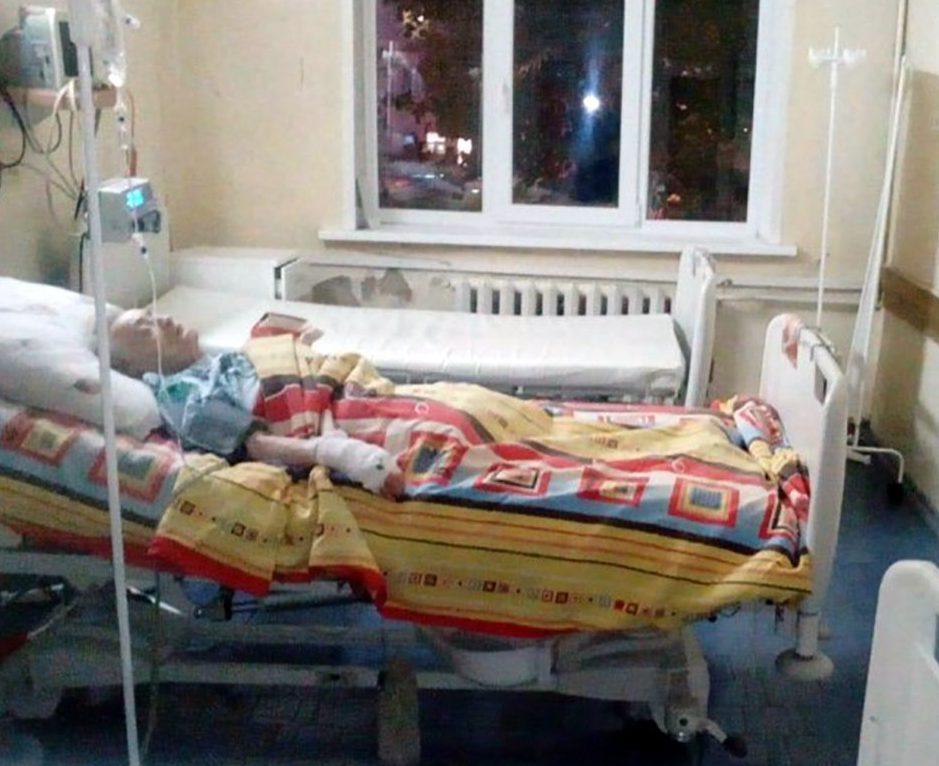 Maria Dronova, 89, after second surgery