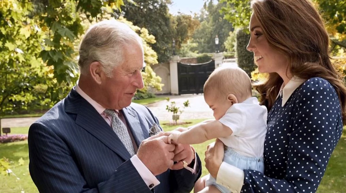Prince Charles plays with Louis Must Credit Chris Jackson/Getty Images