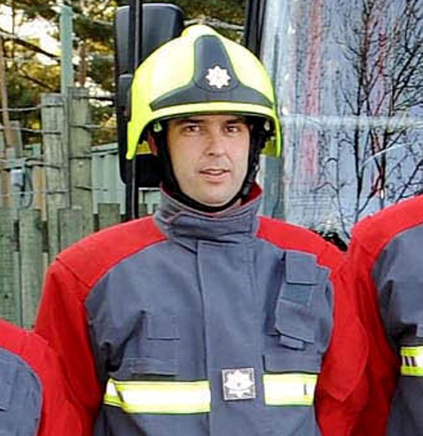 Paul Oulton from the Delabole Cornwall Rescue and Fire Service in Delabole in 2010. See SWNS story SWPLfire; A drunk firefighter died in a chip pan blaze at his home after a night out at the pub, an inquest heard. Off duty Paul Oulton, 43, was discovered by colleagues who were called to the property following an emergency call from a neighbour. Paul, who was a retained firefighter at Launceston Community Fire Station in Cornwall, had drunk seven pints of lager and three or four Jack Daniels and Cokes. An inquest in Truro, Cornwall, heard Paul was in ???good spirits and looking forward to the future??? on the night of his death.