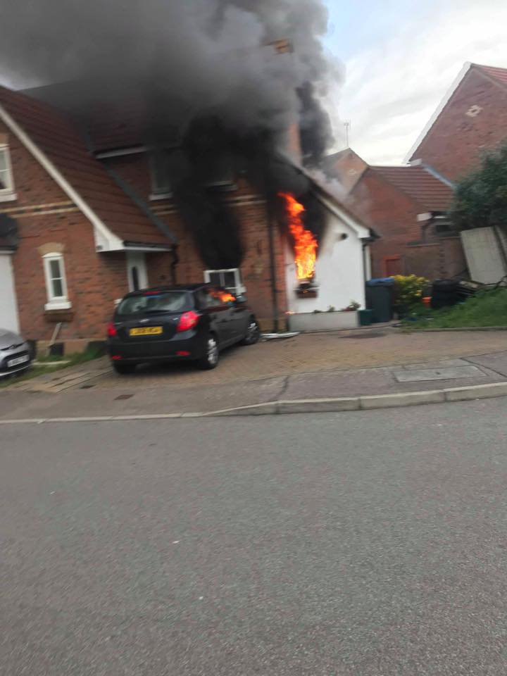 A mum-of-four watched her home burn to charcoal after a tumble dryer caught fire this weekend. A crowdfunding page has been set up to raise money for Harlow woman Emma Pickering Chapman, after her home was badly damaged in a fire on Sunday, November 4. Caption: Emma's home was destroyed