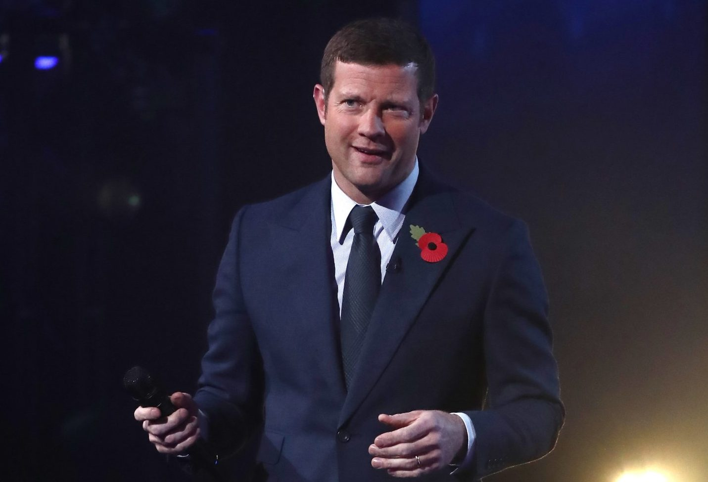 EDITORIAL USE ONLY - NO BOOK PUBLISHING Mandatory Credit: Photo by Dymond/Thames/Syco/REX (9972280ck) Dermot O'Leary 'The X Factor' TV show, Series 15, Episode 21, London, UK - 10 Nov 2018