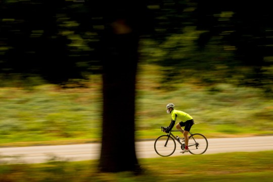 Embargoed to 0001 Monday November 12 File photo dated 04/10/17 of a cyclist. Almost half of the UK?s National Cycle Network is in a poor or very poor condition, according to new research. PRESS ASSOCIATION Photo. Issue date: Monday November 12, 2018. High-speed vehicles, too many barriers and unstable surfaces were among the faults found on the 16,500-mile network of paths and on-road cycling and walking routes. Independent analysis commissioned by transport charity Sustrans, which gained funding to develop the network in 1995, classified the condition of 42% of it as ?very poor? and 4% as ?poor?. See PA story TRANSPORT Cycling. Photo credit should read: Dominic Lipinski/PA Wire