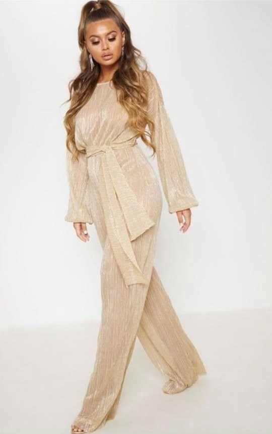de556619dfd PIC FROM Kennedy News and Media (PICTURED  GOLD JUMPSUIT FROM PRETTY LITTLE  THING WEBSITE