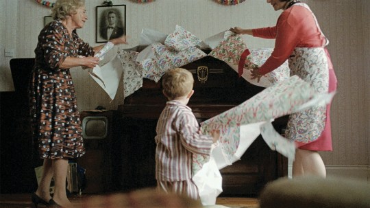 Embargoed to 0001 Thursday November 15 Undated handout image issued by John Lewis & Partners of their 2018 christmas advert, The Boy & The Piano, which stars Sir Elton John and his first hit Your Song. PRESS ASSOCIATION Photo. Issue date: Thursday November 15, 2018. See PA story CONSUMER JohnLewis. Photo credit should read: John Lewis & Partners/PA Wire NOTE TO EDITORS: This handout photo may only be used in for editorial reporting purposes for the contemporaneous illustration of events, things or the people in the image or facts mentioned in the caption. Reuse of the picture may require further permission from the copyright holder.
