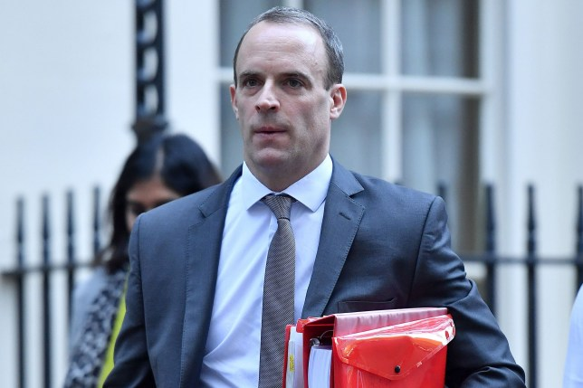 Britain's Secretary of State for Exiting the European Union (Brexit Minister) Dominic Raab leaves Downing Street in London on November 14, 2018. - British and European Union negotiators have reached a draft agreement on Brexit, Prime Minister Theresa May's office said on November 13. (Photo by Ben STANSALL / AFP)BEN STANSALL/AFP/Getty Images