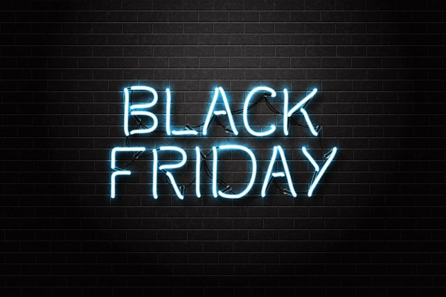 Vector realistic isolated neon sign of Black Friday lettering for decoration and covering on the transparent background. Concept of sale, clearance and discount.; Shutterstock ID 731488546; Purchase Order: -