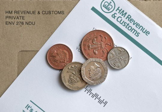 HM Customs and Revenue self assessment notice to complete a Tax Return. (Photo by: Loop Images/UIG via Getty Images)