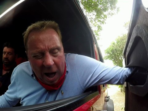 Harry Redknapp did a task leaning out a car window on first I'm A Celeb and the producers are genius
