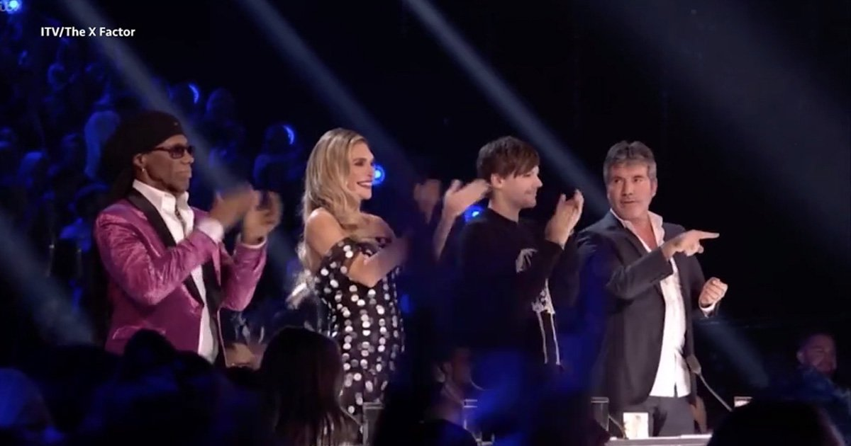 Simon Cowell asks Louis Tomlinson of Cheryl is 'alright' after slated X Factor performance Credit: ITV