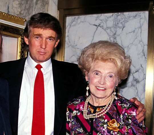 Mandatory Credit: Photo by Judie Burstein/Globe Photos/REX/Shutterstock (7448609b) Fred Trump, Donald Trump and Mary Anne Trump Donald Trump with mother and father, New York, USA - 1992