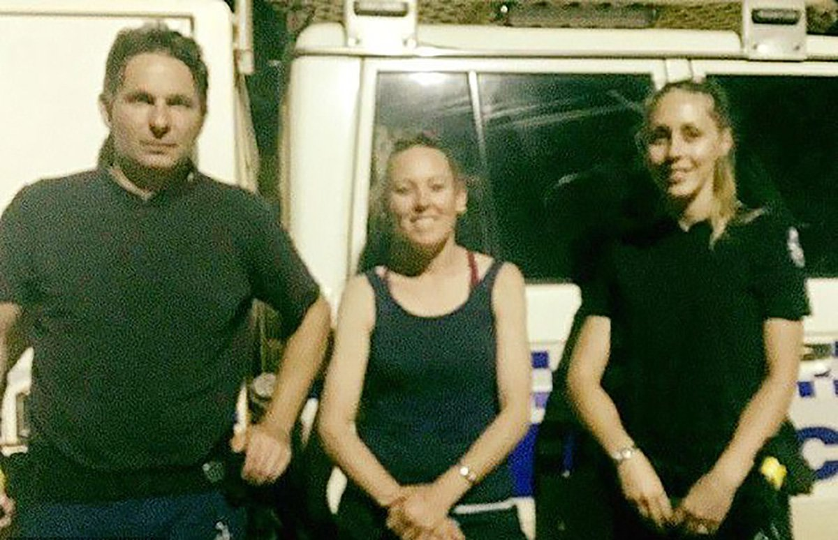 Brooke Phillips (middle) was relieved to be rescued after she was stranded in the Western Australian outback for six days after her car got bogged. Her cat and dog also survived