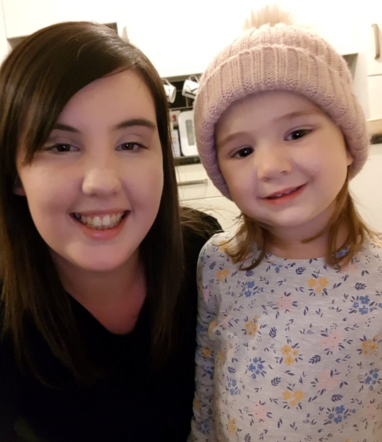 Rachael Hanley. ***ONLINE EMBARGO: Tuesday, November 20, 2018, 18:00 Hours UK Time (GMT)*** Rachael Hanley with Evie-Mae. See SWNS story SWLEnote; A mum whose young daughter has a serious breathing condition found a cruel note on her car after parking in a blue badge space -- saying her two-year-old ?does not look disabled?. Rachael Hanley, 22, returned to her Renault Scenic to find the handwritten note from an angry female shopper who had earlier confronted her when she first arrived at the shopping centre. The note said she had been reported for misusing a blue badge on Thursday last week - and advised that she should bring a wheelchair for her daughter next time. To make matters worse, Evie-Mae unexpectedly began ?fitting and vomiting? when they returned to the car and was left needing ?basic life support? following a full body shaking seizure.
