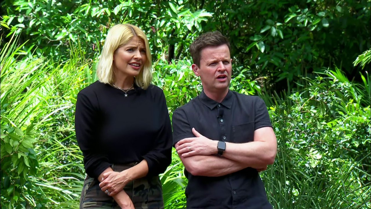 Anne Hegerty wins two stars during the 'Monstrous Monoliths' bushtucker trial 'I'm a Celebrity...Get Me Out of Here!['. Broadcast on ITV1 Featuring: Holly Willoughby, Declan Donnelly, Dec When: 20 Nov 2018 Credit: Supplied by WENN **WENN does not claim any ownership including but not limited to Copyright, License in attached material. Fees charged by WENN are for WENN's services only, do not, nor are they intended to, convey to the user any ownership of Copyright, License in material. By publishing this material you expressly agree to indemnify, to hold WENN, its directors, shareholders, employees harmless from any loss, claims, damages, demands, expenses (including legal fees), any causes of action, allegation against WENN arising out of, connected in any way with publication of the material.**