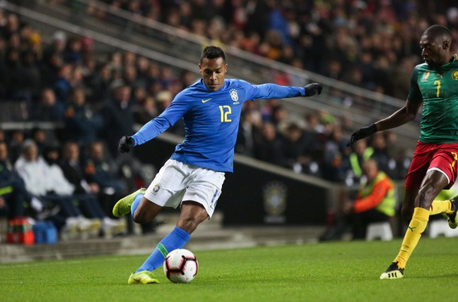 Alex Sandro of Brazil during the International Friendly match between Brazil and Cameroon on November 20, 2018 in London, United Kingdom. (Photo by Johnny Fidelin/Icon Sport via Getty Images)