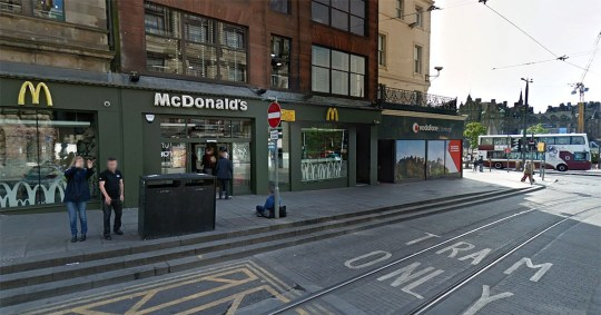 Man performed the helicopter with his penis on McDonald's counter picture: Google Maps METROGRAB