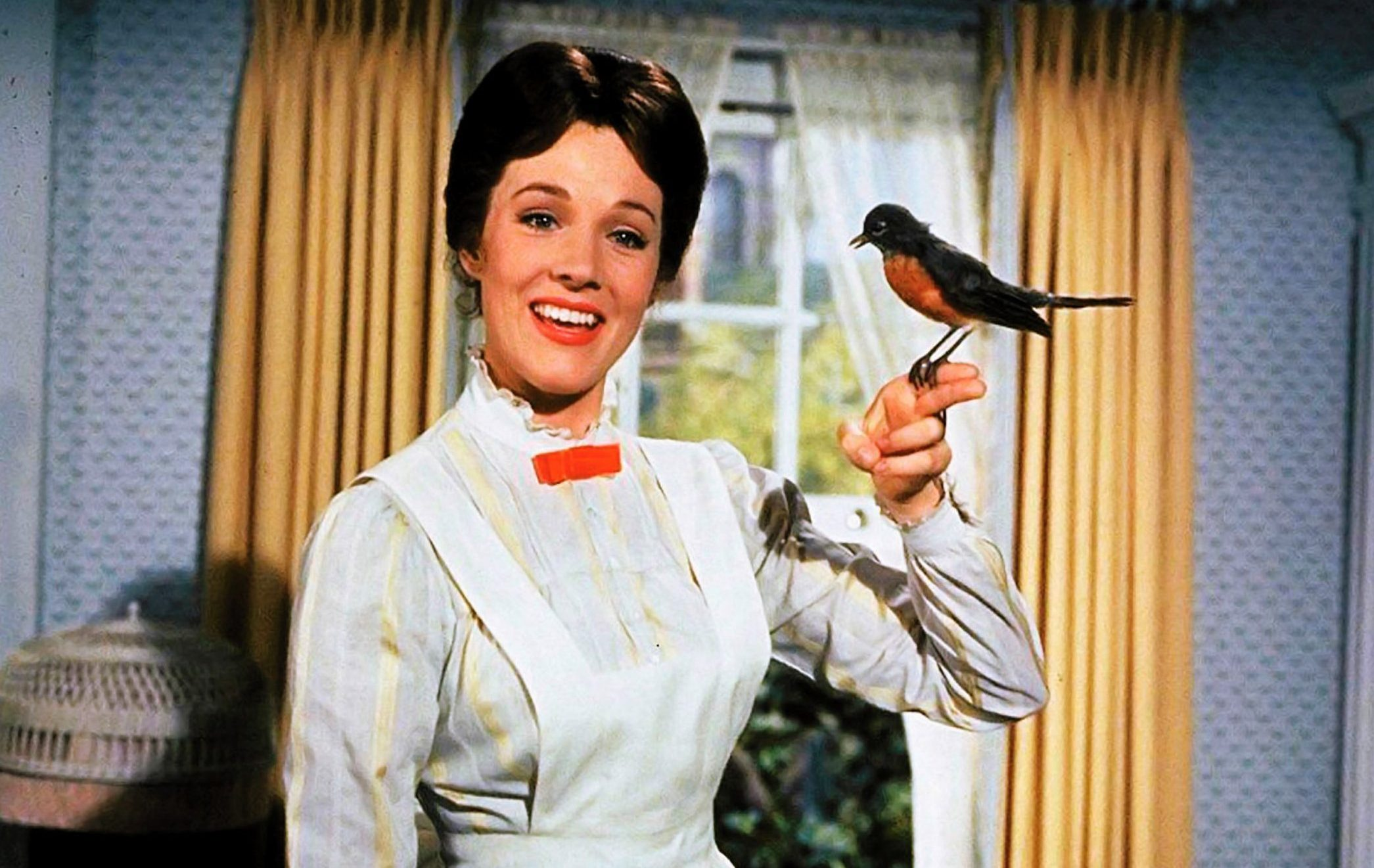 Editorial use only. No book cover usage. Mandatory Credit: Photo by Disney/Kobal/REX/Shutterstock (5886101by) Julie Andrews Mary Poppins - 1964 Director: Robert Stevenson Walt Disney Pictures USA Film Portrait Family