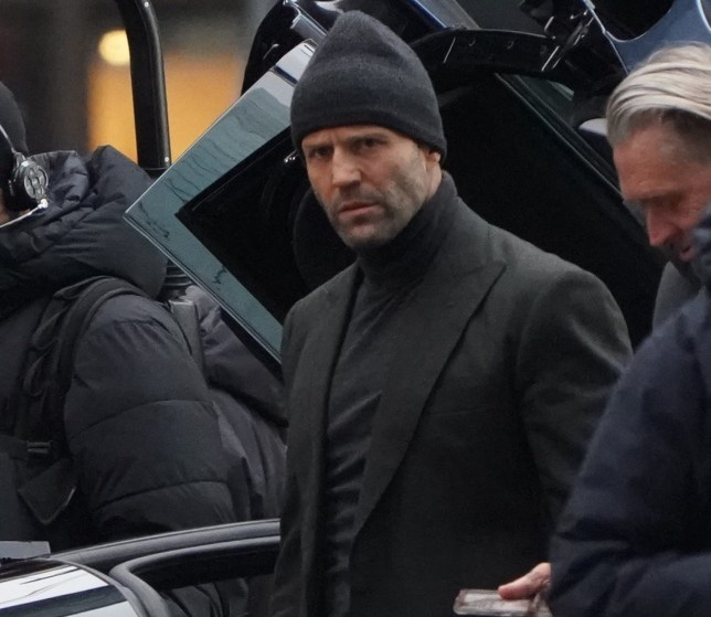 Scenes for Fast & Furious filmed in London today (24/11/18) with stars 'The Rock', Dwayne Johnson, Jason Statham and Idris Elba all on set, Elba seemed to be having some costume issues though in his leather biker outfit complete with an assortment of weaponry Pictured: Ref: SPL5044269 241118 NON-EXCLUSIVE Picture by: Matt Sprake / SplashNews.com Splash News and Pictures Los Angeles: 310-821-2666 New York: 212-619-2666 London: 0207 644 7656 Milan: 02 4399 8577 photodesk@splashnews.com World Rights,