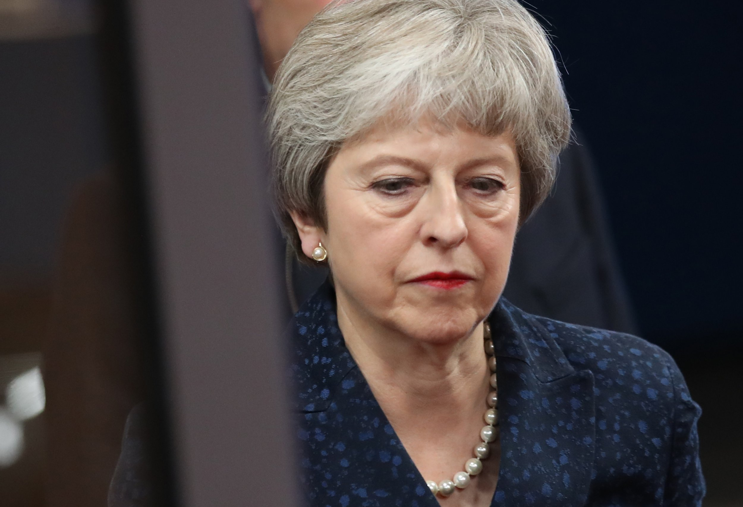 BRUSSEL, BELGIUM - NOVEMBER 24: British Prime Minister Theresa May arrives at the European Council to meet with European Council President Donald Tusk the day before a summit of the European Council on Brexit on November 24, 2018 in Brussels, Belgium. Leaders of the 27 remaining member states of the European Union are scheduled to meet tomorrow in Brussels over whether to approve the United Kingdom's withdrawal agreement for leaving the European Union and the political declaration that will set the course for the U.K.'s relationship with the E.U. once Brexit is complete. (Photo by Sean Gallup/Getty Images)