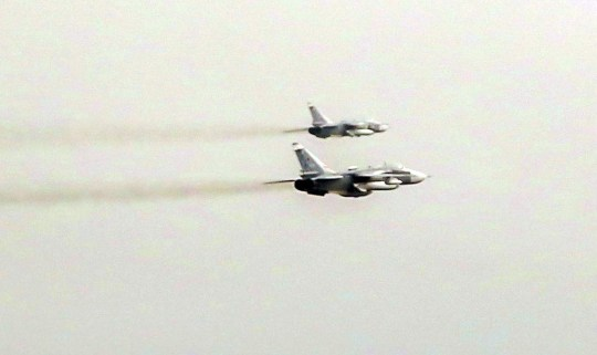 Russian fighter jets at low level over the Nato task group led by HMS Duncan.