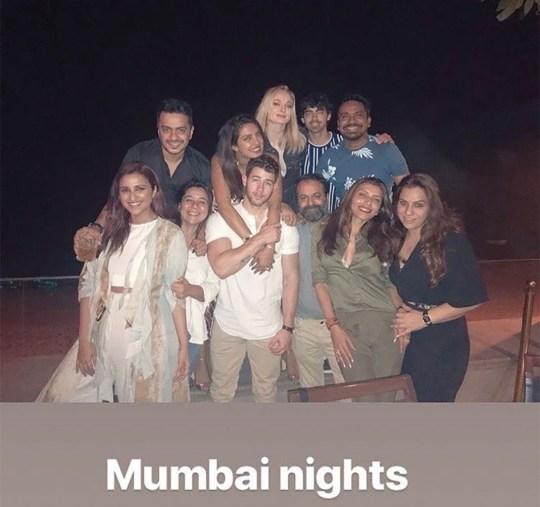 Joe Jonas and Sophie Turner in Mumbai for Nick and Priyanka's