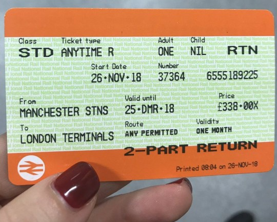 London To Manchester Train Ticket Cost More Than New York Return