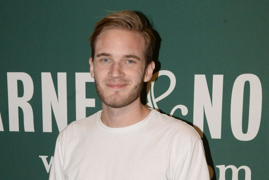 "LOS ANGELES, CA - OCTOBER 30: Comedian PewDiePie attends his book signing for ""This Book Loves You"" at Barnes & Noble at The Grove on October 30, 2015 in Los Angeles, California. (Photo by Matt Winkelmeyer/Getty Images)"