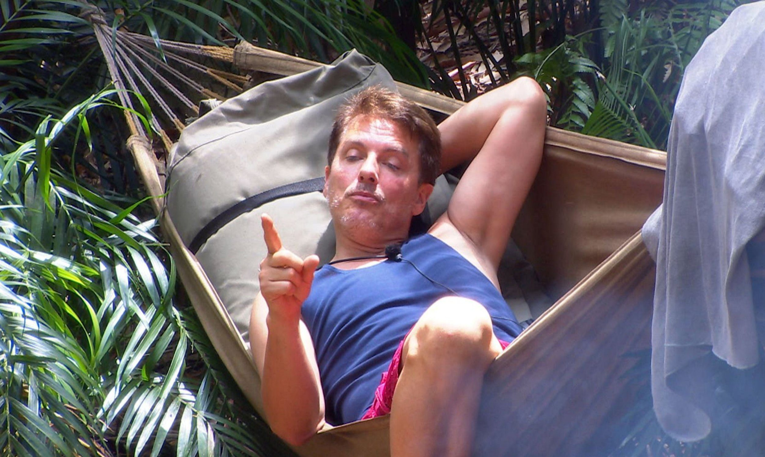STRICT EMBARGO - NOT TO BE USED BEFORE 22:00 GMT, 28 NOV 2018 - EDITORIAL USE ONLY Mandatory Credit: Photo by ITV/REX (10001287fq) Nick Gets Knickered - John Barrowman 'I'm a Celebrity... Get Me Out of Here!' TV Show, Series 18, Australia - 28 Nov 2018