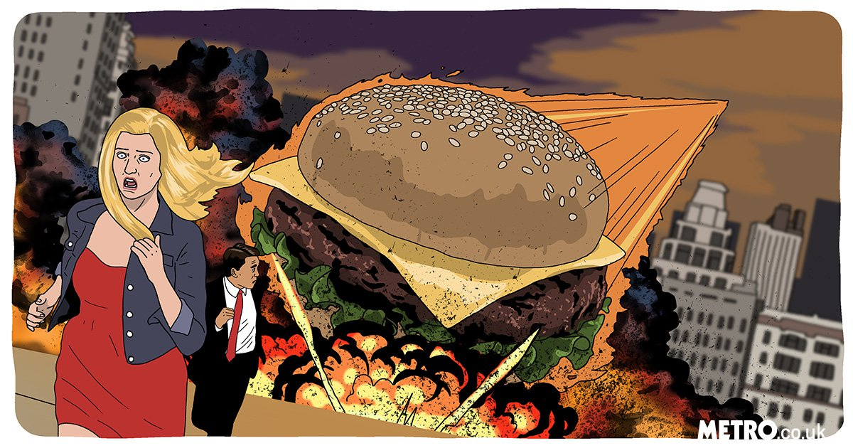 If we carry on eating burgers at the rate we are, we could cause the apocalypse
