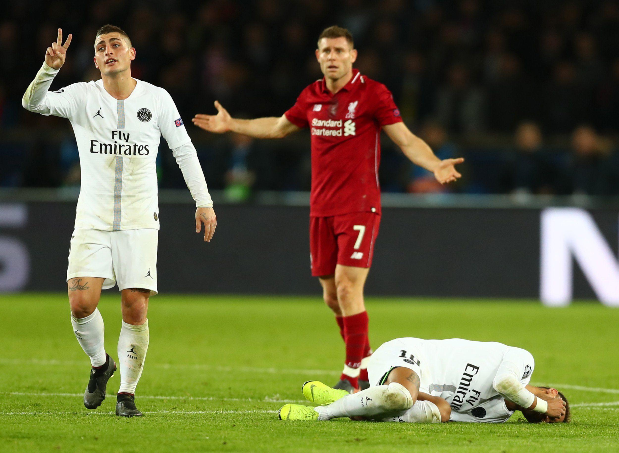 James Milner slams Neymar and Paris Saint-Germain's tactics after Liverpool loss