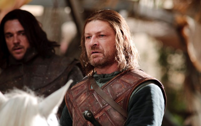 Jamie Sives as JORY CASSEL (left) and Sean Bean as NED STARK (right)