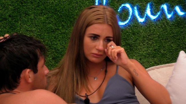Editorial use only Mandatory Credit: Photo by ITV/REX/Shutterstock (9717329j) Dani Dyer and Jack's love continues to flourish. Dani is upset about the decision she and Jack made in choosing Alex and Samira as the least compatible couple. 'Love Island' TV Show, Series 4, Episode 12, Majorca, Spain - 15 Jun 2018