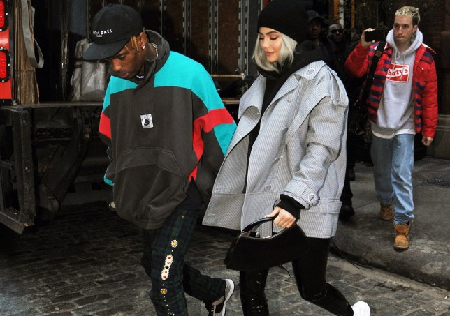 Kylie Jenner and Travis Scott hold hands as they head out. 28 Nov 2018 Pictured: Kylie Jenner and Travis Scott. Photo credit: MEGA TheMegaAgency.com +1 888 505 6342