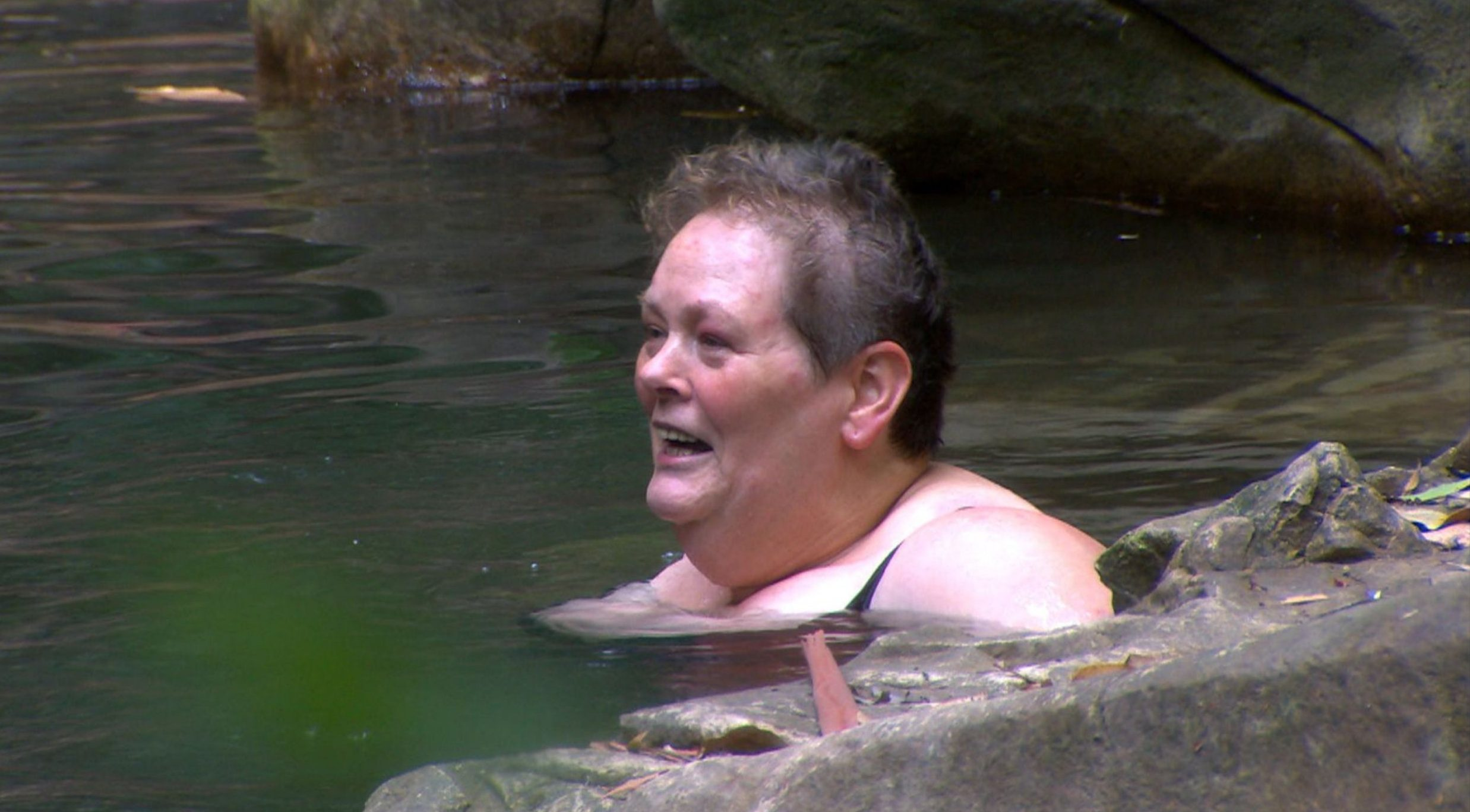 STRICT EMBARGO - NOT TO BE USED BEFORE 22:30 GMT, 29 NOV 2018 - EDITORIAL USE ONLY Mandatory Credit: Photo by ITV/REX (10003486bg) Creek and Pool Chat - Anne Hegerty 'I'm a Celebrity... Get Me Out of Here!' TV Show, Series 18, Australia - 29 Nov 2018