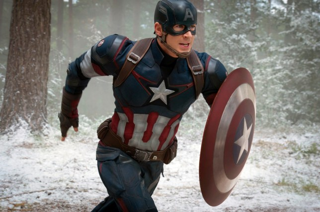 "FILE - This file photo provided by Disney/Marvel shows Chris Evans as Captain America/Steve Rogers, in the new film, ""Avengers: Age Of Ultron."" Evans suggested his run as Captain America is done. The filmmakers controlling the Avengers??? fates say he shouldn???t shelve the shield just yet. (Jay Maidment/Disney/Marvel via AP)"
