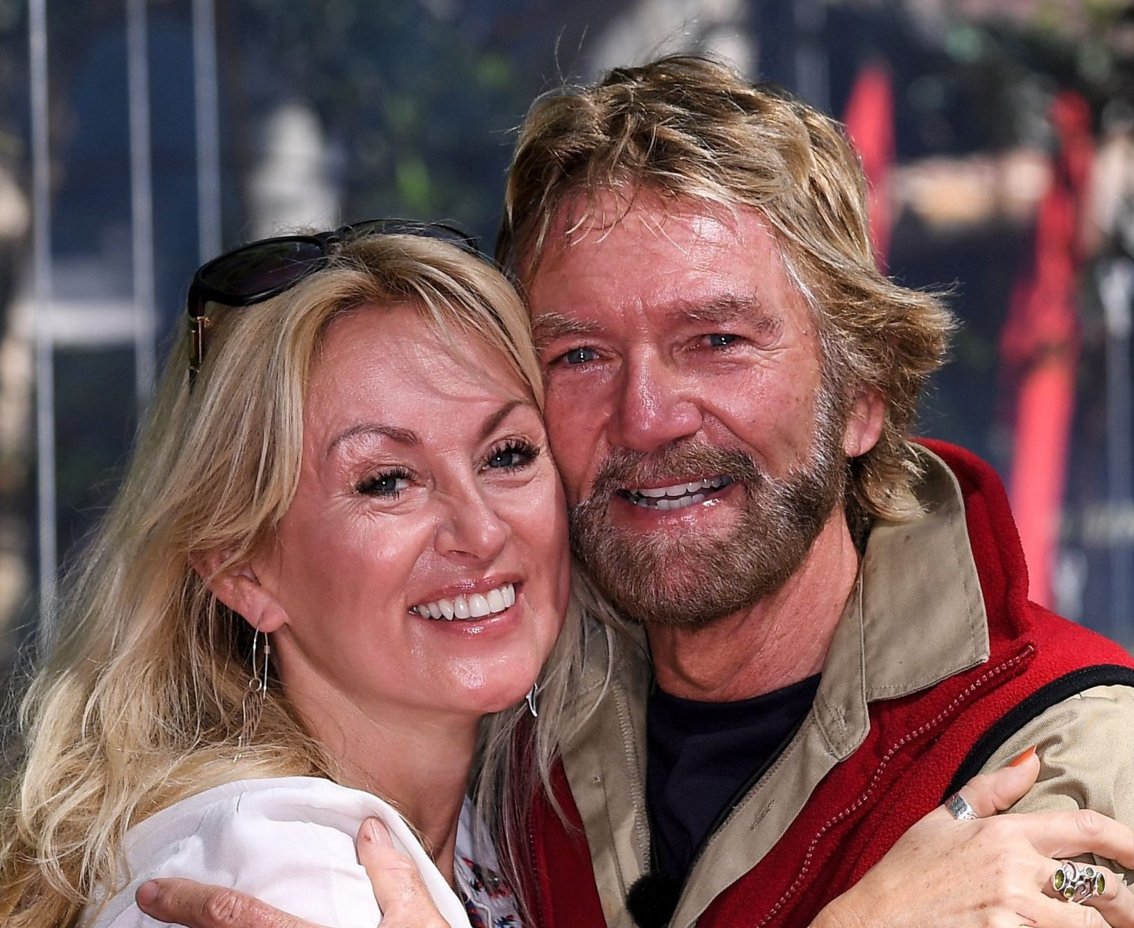 Mandatory Credit: Photo by James Gourley/REX (10010462m) Noel Edmonds is evicted and is joined by wife Liz Davies 'I'm a Celebrity... Get Me Out of Here!' TV Show, Series 18, Australia - 30 Nov 2018