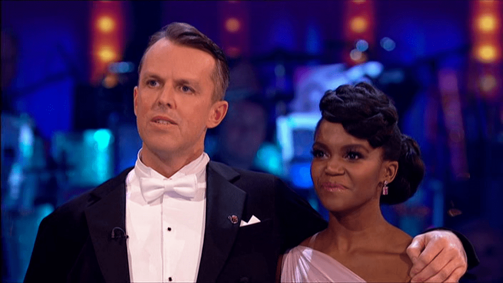Graeme Swann was emotional after his Strictly Come Dancing waltz (Picture: BBC)