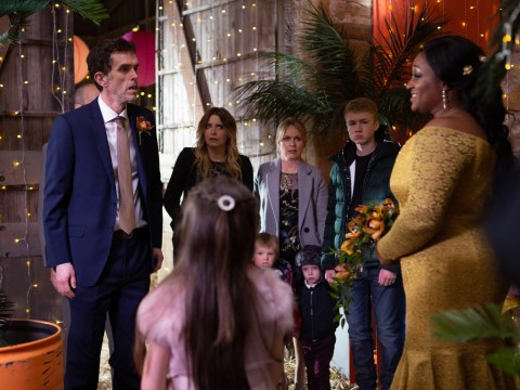 Emmerdale Christmas spoilers: Shock collapse as trailer shows Marlon Dingle's surprise wedding descend into chaos