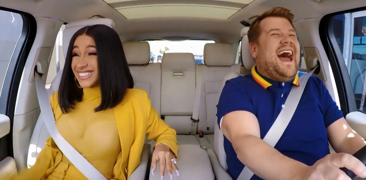 Cardi B's Carpool Karaoke branded 'the best yet' as she gets behind the wheel with James Corden