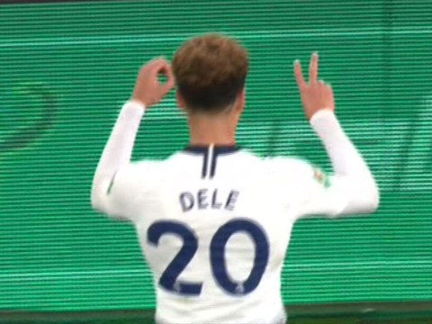 Dele Alli mocks Arsenal fans after being hit by bottle in Tottenham's Carabao Cup clash