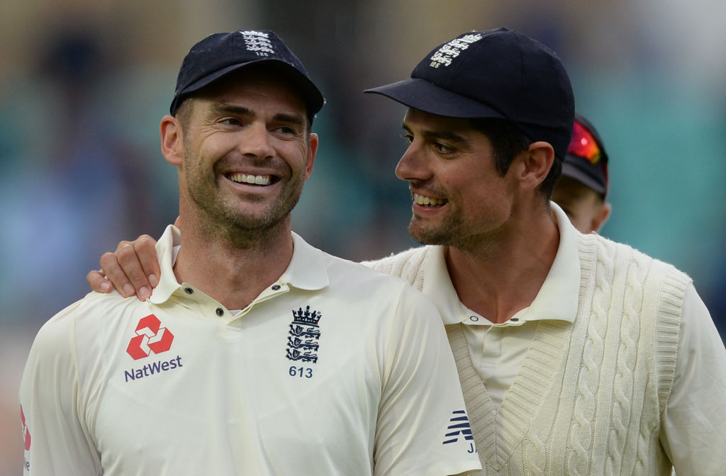 Alastair Cook wore James Anderson's box when he hit century in final Test innings