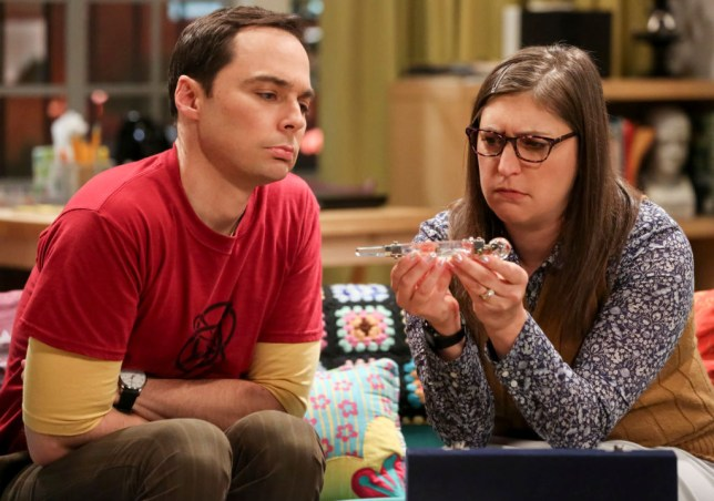 Sheldon Cooper and Amy Farrah Fowler in The Big Bang Theory