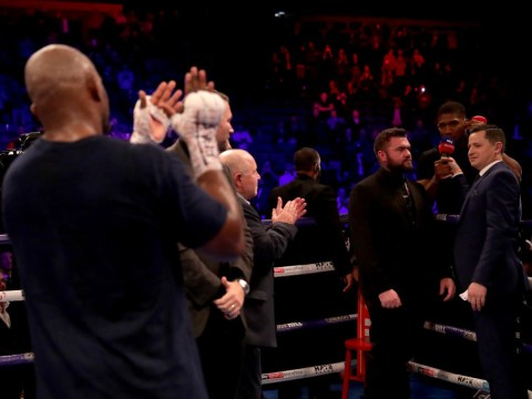 Anthony Joshua tells Dillian Whyte he can have rematch in April