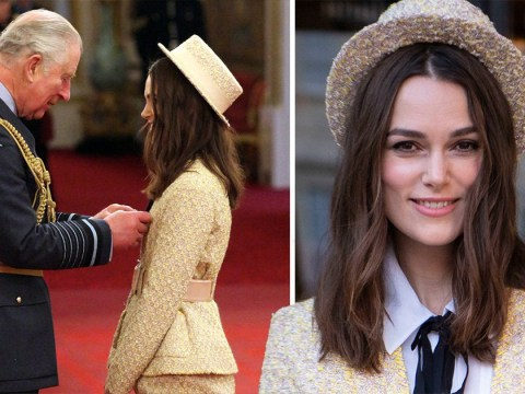 Keira Knightley awarded OBE by Prince Charles and her Chanel suit is divine