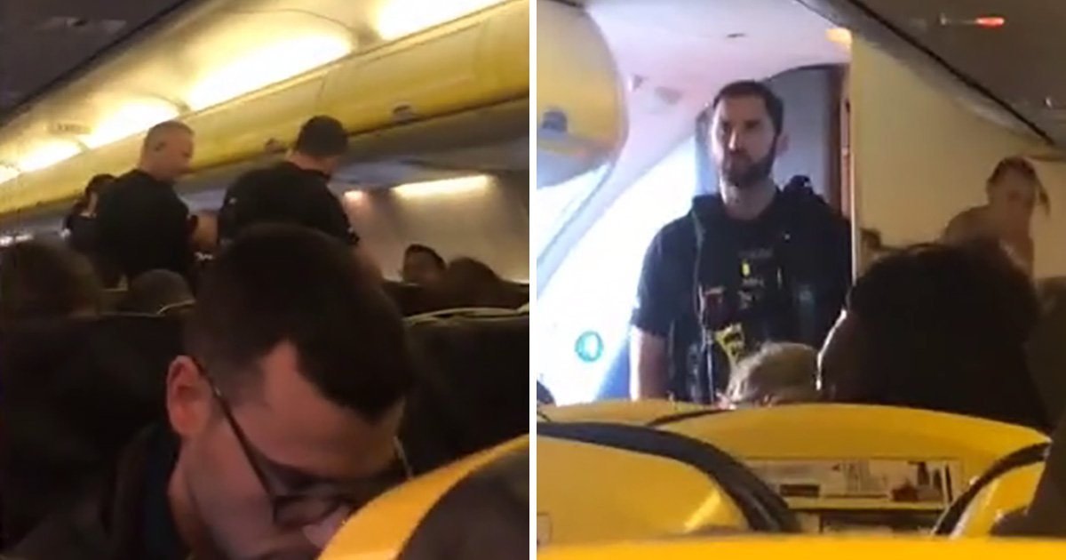 Ryanair flight forced to land 'after two men started a fight onboard'